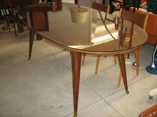 Tavolo da pranzo ovale anni 50 palissandro loft900 for Tavolo da pranzo ovale