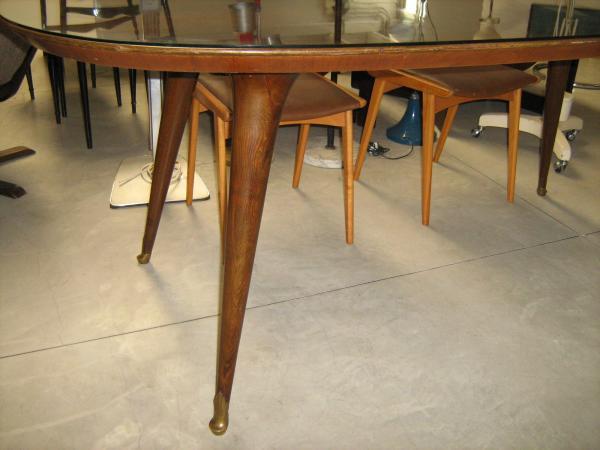 tavolo da pranzo ovale anni 50 palissandro | Loft900