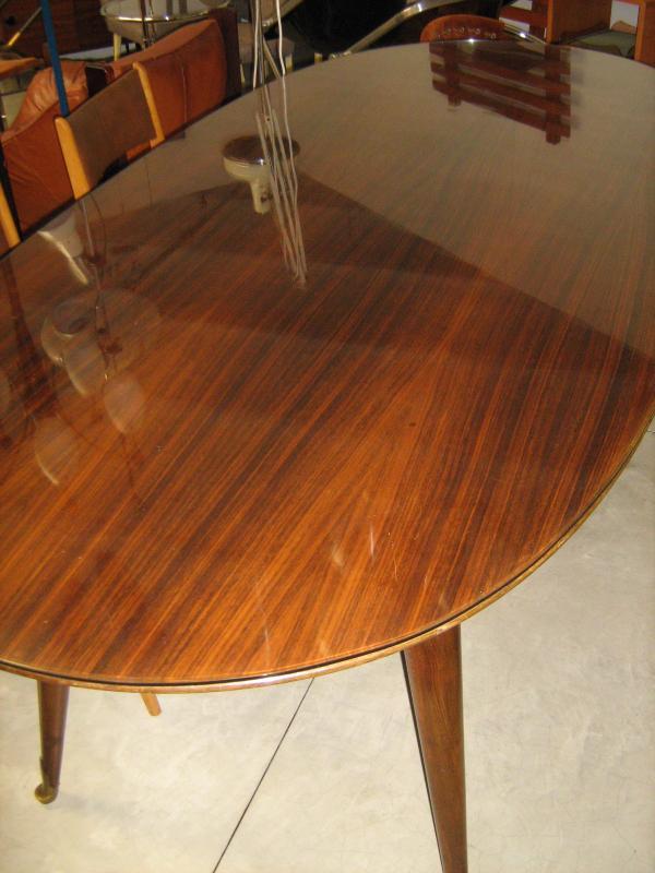 Tavolo da pranzo ovale anni 50 palissandro loft900 - Tavolo da pranzo ovale ...